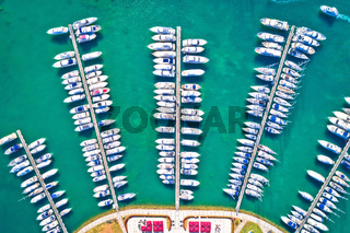 Yachting club and marina aerial view, Novigrad Istarski