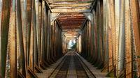 Alte Eisenbahnbrücke in Trencin