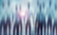 Silhouettes of aliens blurred background. UFO Concept.