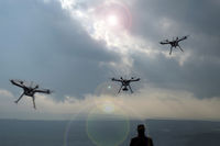 Drohnen, Flugdrohnen, Flugobjekt