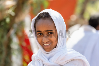 Orthodox Christian ethiopian woman, Lalibela, Ethiopia