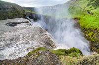 Powerful Gullfoss Waterfalls in Iceland