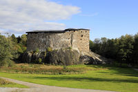 Raseborg Castle Ruins on a Rock