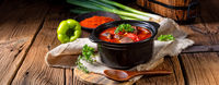 A real Hungarian goulash with beef and paprika