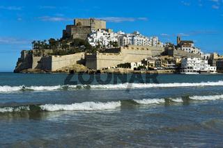Burg von Peniscola, Costa del Azahar, Provinz Castellon, Spanien