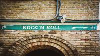 Street Sign to Rockn Roll