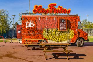 Empty Food Trucks Exterior, Santiago de Chile