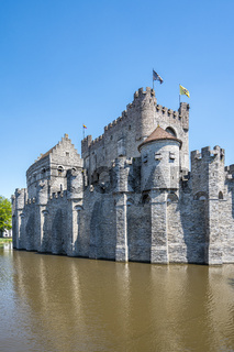 Gravensteen Castle of Ghent in Belgium