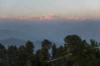 The Himalayas from Nagarkot in Nepal