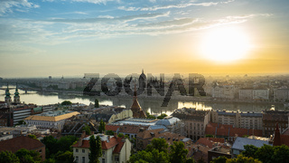 Budapest skyline with Parliament Building in Budapest city, Hungary