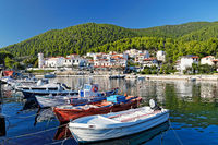 The port in Hovolo of Skopelos, Greece