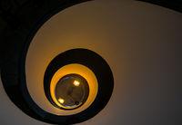 Spiraler Treppenaufgang