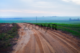 Gravel road turn