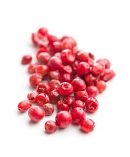 Dried pink peppercorn.