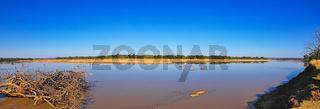Panorama der Landschaft am Luangwa, South Luangwa Nationalpark, Sambia | landscape at the Luangwa River, Zambia