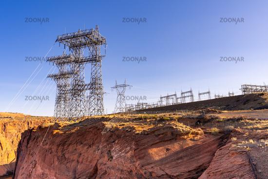 Power plant over dam
