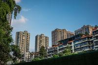 High residential buildings in Chengdu