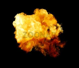 Fireball Isolated On Black Background