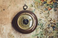 Vintage barometer in old house