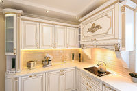 neoclassic style luxury kitchen interior
