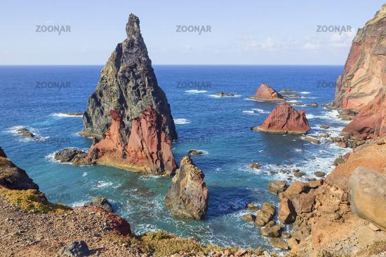 Ponta de Sao Lourenco landscape in Madeira