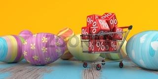 Shopping Cart Discount Cubes Easter Eggs