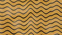 Abstract yellow color wave pattern with black lines. 3d illustration