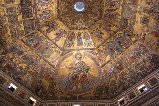 Florence. Mosaic of the Baptistery of Saint John