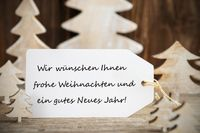 Christmas Tree, Label, Gutes Neues Means Happy New Year