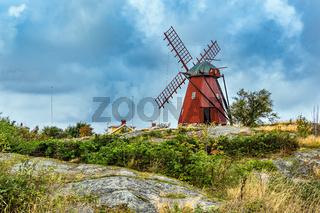 Windmühle in Mollösund in Schweden