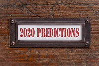2020 predictions- file cabinet label