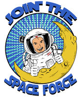 Join the Space Force Pop Art Logo