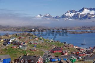 Aussicht über Ammassalik - Ostgrönland