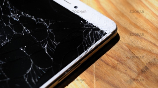 Xiaomi MI Max close shot of spider web on screen