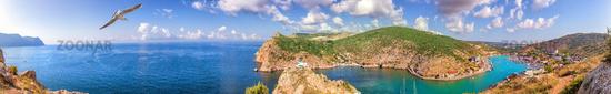 Full view Balaklava Bay panorama, Sevastopol, Crimea