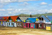Fernfahrerraststätte an der Strasse A0301 bei Erdenesant, Mongolei
