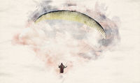 Watercolor Paragliding