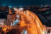 Maidan Nezalezhnosti is the central square of the capital city of Ukraine