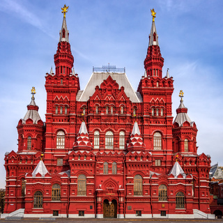The State Historical Museum of Russia on Red Square in Moscow