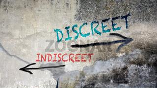 Wall Graffiti Discreet versus Indiscreet
