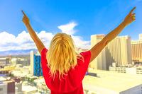 Las Vegas woman aerial