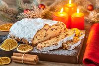 Stollen - traditional German Christmas bread