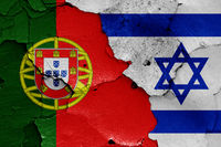 flags of Portugal and Israel