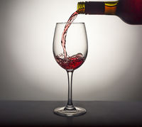 Pouring, wine, glass, red wine, Valentine's Day, alcohol, splash, luxury, gourmet,