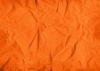 orange crumpled paper texture background