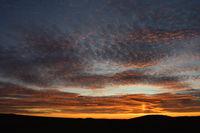 Sonnenaufgang in der Oberlausitz