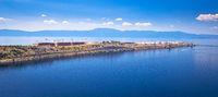 LNG terminal on Krk island panoramic view