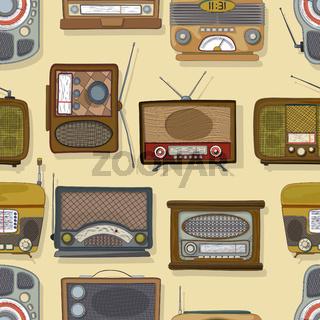 Retro style radio pattern