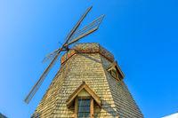 Windmill in blue sky
