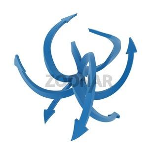 Blue Arrow Curves